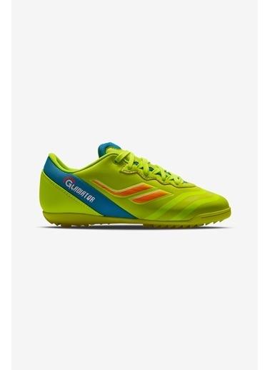 Lescon Gladiator-007 H-19B Fosfor Yeşil Çocuk Halı Saha Ayakkabısı Yeşil
